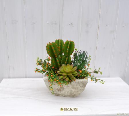 Composizione fiori artificiali Tropic