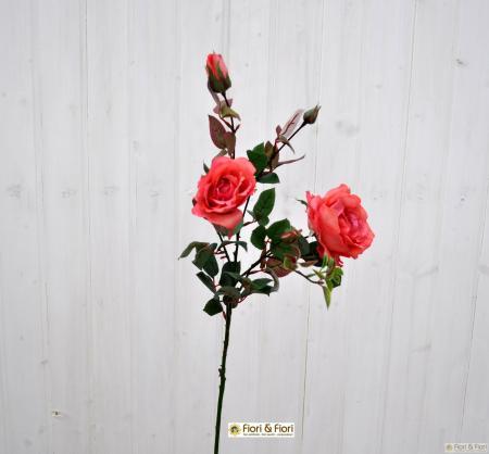 Fiore artificiale Rosa Margaret Fucsia