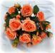 P.Bouquet di fiori artificiali Rosa Tea salmone