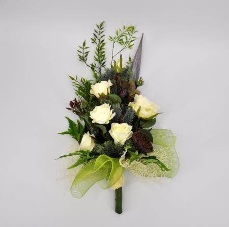 Bouquet fiori artificiali Bali bianco