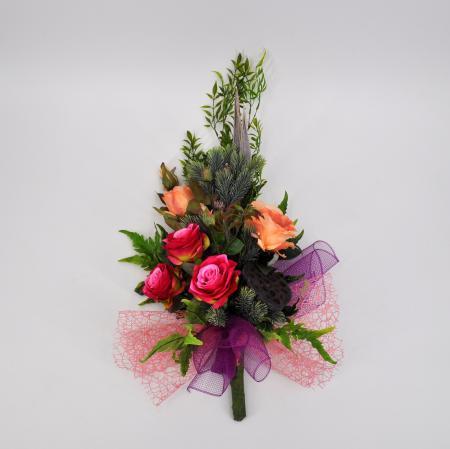 Bouquet fiori artificiali Bali rosa
