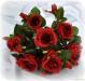 P.Bouquet di fiori artificiali Rosa Tea rosso