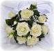 P.Bouquet di fiori artificiali Rosa Tea bianco