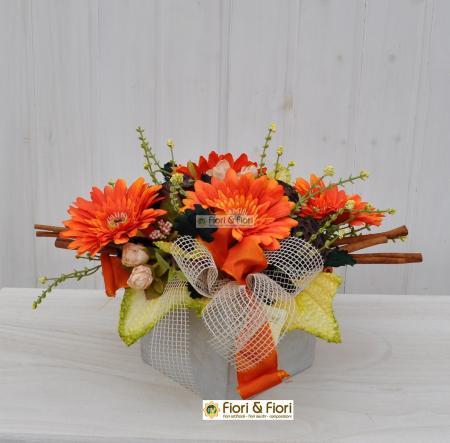 Composizione fiori artificiali Gaia