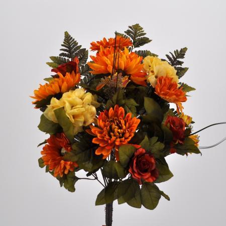 Bouquet fiori artificiali Virginia giallo
