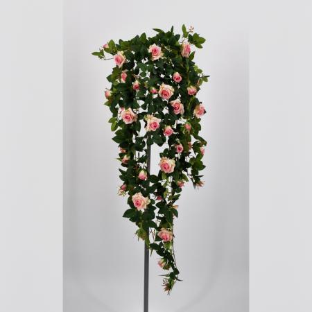 Pianta artificiale Rosellina cadente rosa