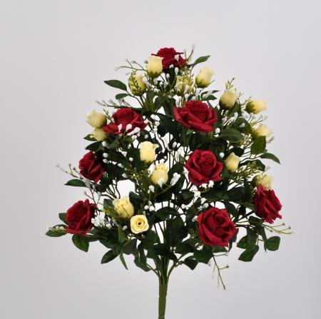 Bouquet fiori artificiali Armony rosso