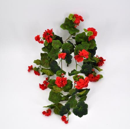 Geranio edera artificiale rosso