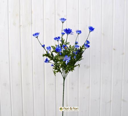Fiore artificiale margherita blù