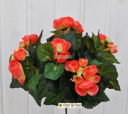 Begonia artificiale arancio