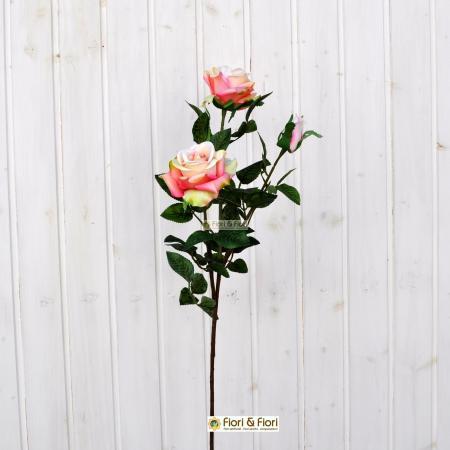 Fiore artificiale Rosa Kiss rosa