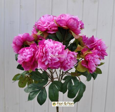 fiori artificiali peonia tudor lilla