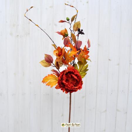 fiori finti margaret arancio