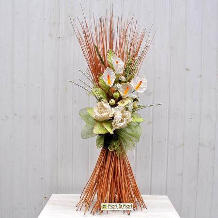 Decorazione fiori artificiali Colèt bianco