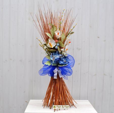 Decorazione fiori artificiali Colèt azzurro