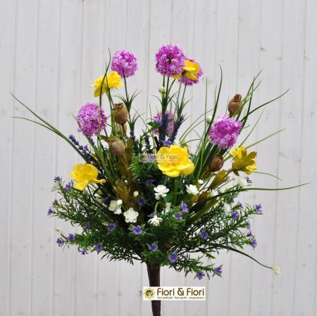Bouquet fiori artificiali Tirolo fucsia