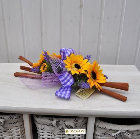 Decorazione fiori artificiali girasoli summer