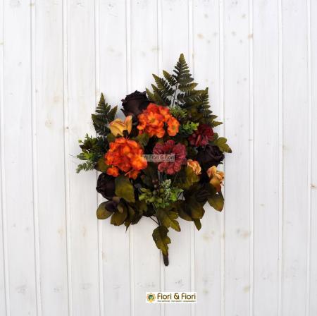 Bouquet fiori artificiali Carolina arancio