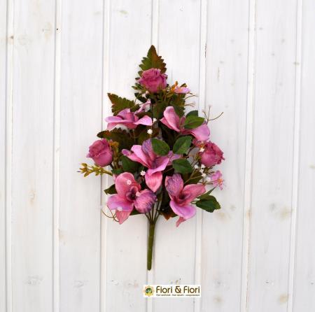 Bouquet fiori artificiali colombia fucsia
