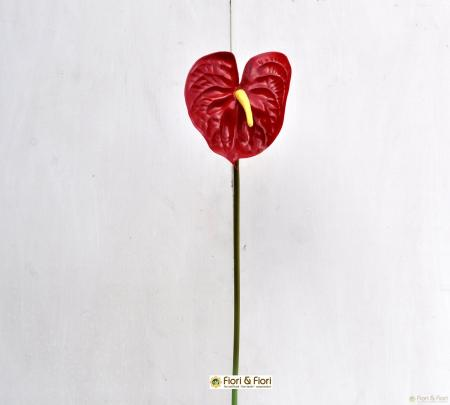 fiore artificiale anthurium rosso