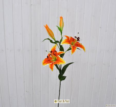 Fiore artificiale lilium stargazer arancio