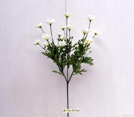 Fiore artificiale margherita bianca