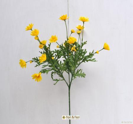 Fiore artificiale margherita gialla
