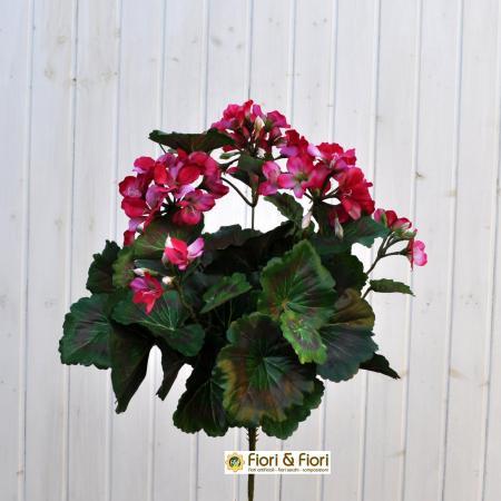 Geranio artificiale pelargonium fucsia