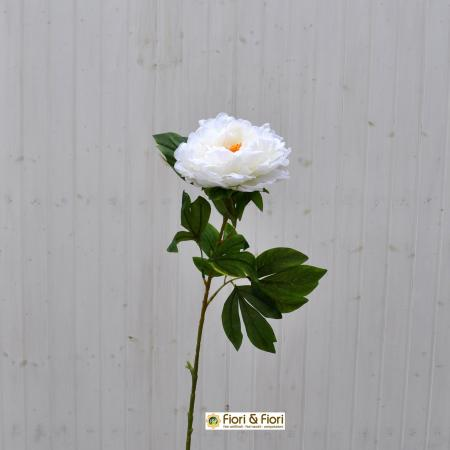 Peonia artificiale bianca
