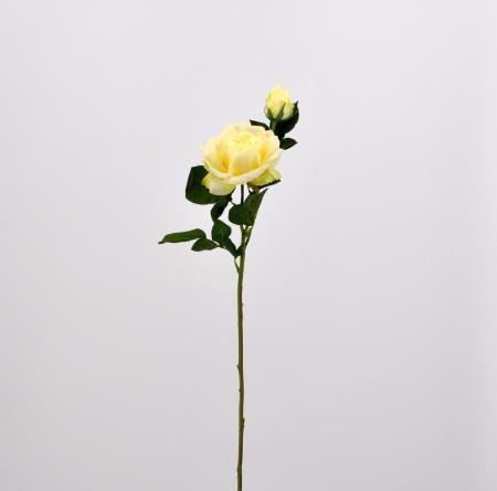 Fiore artificiale Rosa Dalì bianca
