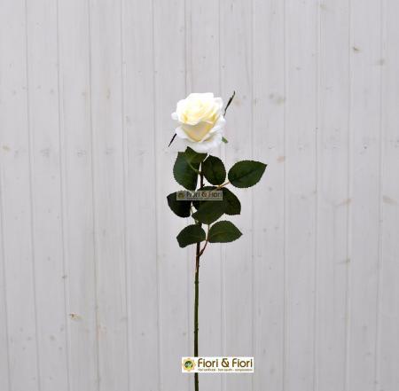Fiore artificiale Rosa france bianca